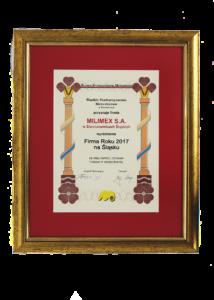 Dyplom Firma Roku 2017